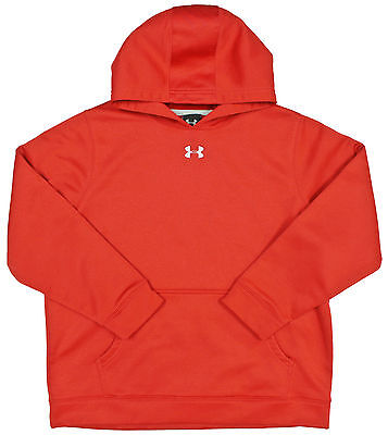 Youth UNDER ARMOUR Hoodie LARGE BOYS Red Pullover Hooded Sweatshirt Cold Gear