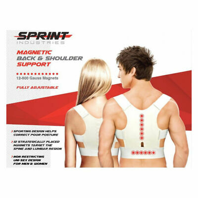Sprint Industries Magnetic Therapy Back Shoulder Posture Corrector Support - XL