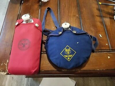 Two Vintage Boy Scout Cub Scout CANTEEN free shipping