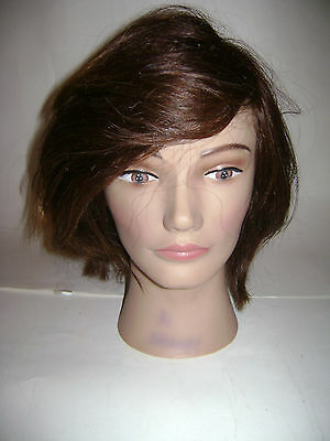 Pivot Point 100% Human Hair Mannequin Head Erika Best For Color Cut Style 227