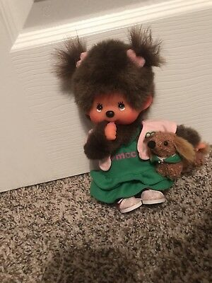 """5"""" Monchhichi Girl With Puppy"""