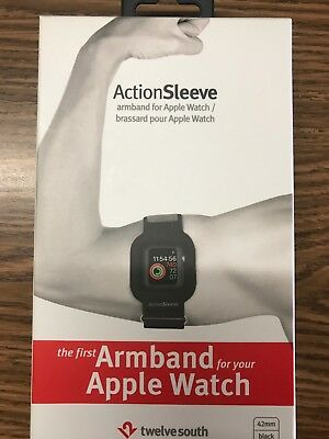 Twelve South - ActionSleeve Armband for Apple Watch ® 42mm - Black