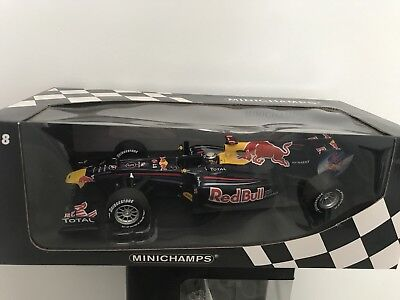 RED BULL RB6 2010 F1 Sebastian Vettel Minichamps 1:18 Model BINB