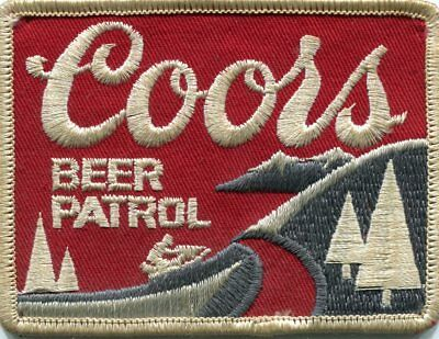 Coors Beer Patrol Patch - Vintage // FREE US SHIPPING!