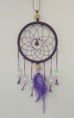 Handmade Purple Dream Catcher w/ Feathers Beads Hanging Decoration Ornament Gift