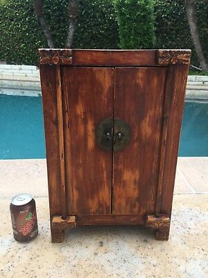 Antique Chinese Table Top Cabinet Chest