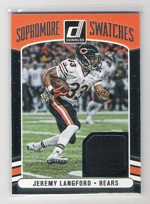 Jeremy Langford 2016 Donruss Sophomore Swatches #9