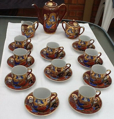 Antique style TEA set. 25 pieces. Delicately hand painted. Pick up only(3977)