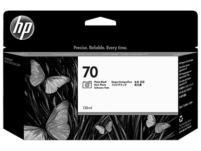 HP 70 Ink Ctg C9449A, Photo Black for HP DesignJet Z-3100