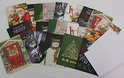 Lot of 25 Christmas Cards Envelopes Holiday Random Paper Unused