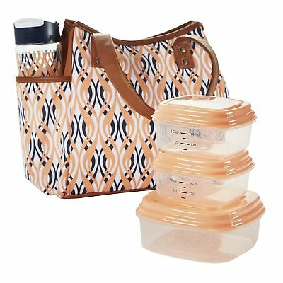 9f3bfbe6454 Fit Fresh Ladies' Westerly Insulated Lunch Bag Set with Reusable Containers  and