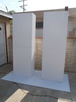 "2 - 91"" Tall White Trade Show Display Towers"