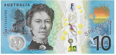 5x 2017 Australia New Ten Dollars $10 Lowe/Fraser Polymer Notes UNC Consecutive