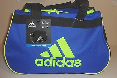 506f48c56c NWT ADIDAS Diablo Small II Duffel Bag Blue Yellow Sport Gym Travel Carry On  Expa