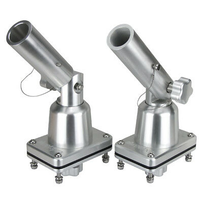 Outrigger Bases Pole Bases Boat Fishing Trolling Outrigger Mounts Pair Anodised