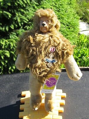 """WIZARD OF OZ HAMILTON GIFTS  NWT 1987 """"LION"""" VINYL DOLL w STAND/TAG"""