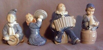 ROYAL COPENHAGAN FIGURINES by ADA BONDILS from Denmark COMPLETE SET OF FOUR
