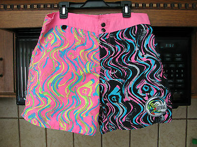O'neill surf board shorts 1980's day glo fluorescent vintage 32 waist outrageous