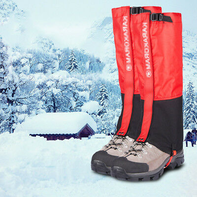 Outdoor Hiking Snow Ski Climbing Leg Shoe Cover Waterproof Boot Legging Gaiters