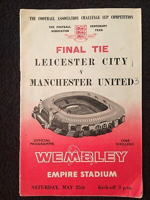 1963 CUP FINAL Leicester v Manchester United
