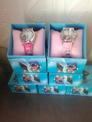 Disney Frozen Watches New Boxed job lot Pink/ Blue Straps assortment of faces