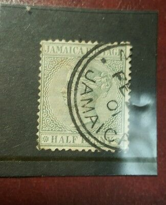 stamp - jamaica  1883 - early issue fine used  - 1/2d -   Lot 792