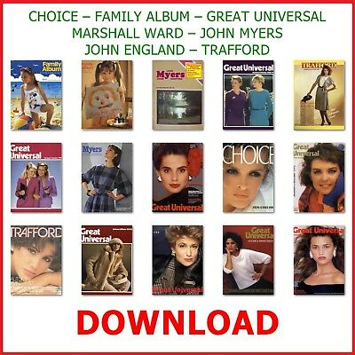 1980s GREAT UNIVERSAL MAIL ORDER CATALOGUE DVD ANTIQUE FASHION HOME