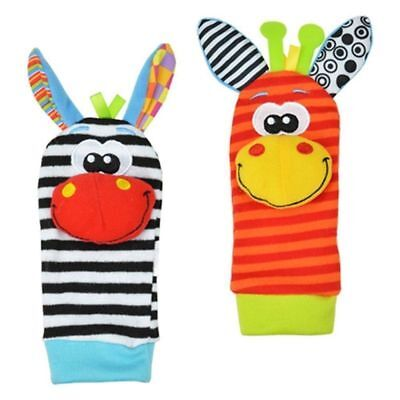 1 Pairs Cute Infant Baby Kids Foot Socks Rattles Finders Glove Toys