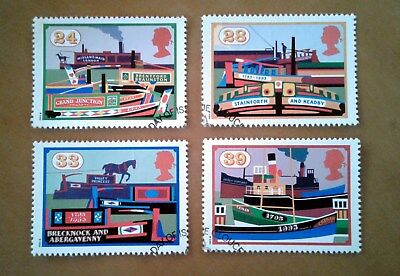 GB QEII Comm. Stamps. 1993 (SG 1775-1778) Inland Waterways. Set from FDC
