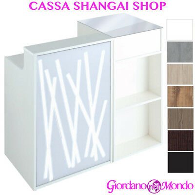 Banco Cassa Reception In Legno Con Led Da Salone E Negozio Shangai Shop Ceriotti