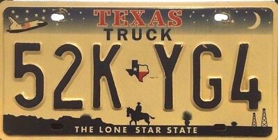 USA Number Licence Plate TEXAS SHUTTLE TRUCK