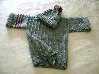 HAND KNITTED    JUMPER & HAT       2 - 3 Yrs.