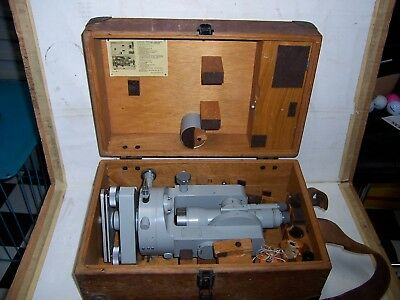 vintage cased theodolite carl zeiss jena theo 020 tachimate surverying