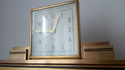 Art Deco Smiths mantle/desk clock 8 day working