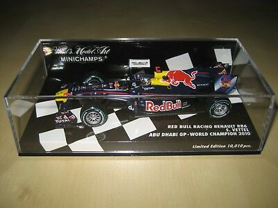 1:43 Minichamps 2010 Red Bull Racing Renault RB6 Vettel GP Winner World Champion