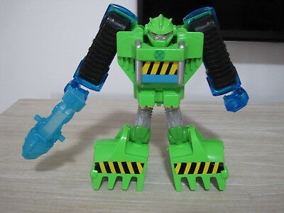 Playskool Heroes Transformers Rescue Bots Boulder the construction Bot figure