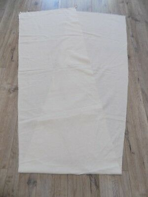 Antique homespun Linen very thin Fabric 1930s White 52x270cm Great condition