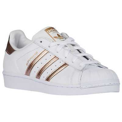 Adidas Superstar Originals White Bronz Rose-Gold BB1428 Donna Shoes Sneakers