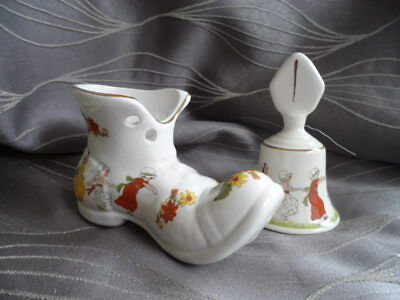 Old Foley Vintage China Boot and Bell
