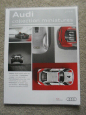 Audi 2014 Collection Miniatures Catalogue A1 to R8 Motorsports diecast models