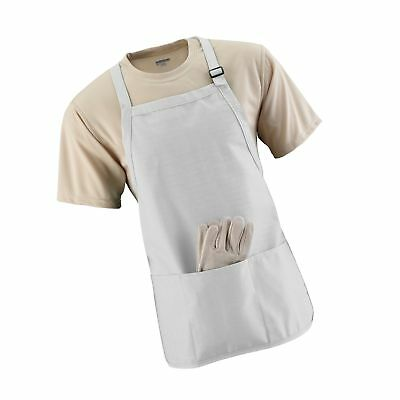 Augusta Sportswear Medium Length Apron With Pouch White One Size