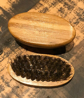 Beard  Brush Moustache Natural Wood Boar Bristle