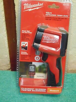 Milwaukee 2267-20H 10:1 Infrared Thermometer Temp-Gun -22⁰F to 752⁰F LCD Display