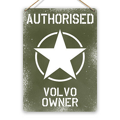 volvo service authorized garage  tin metal sign wall cottage
