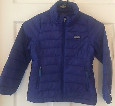 PATAGONIA Girl's Purple  Quilted Goose Down Jacket Size: XS ( 5-6)