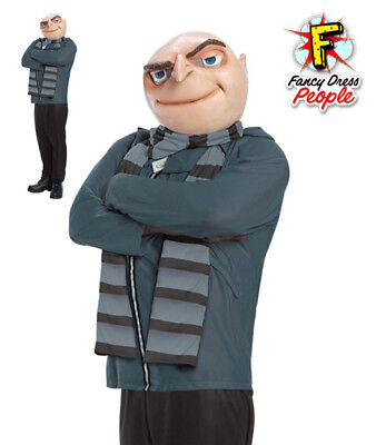 Adult Despicable Me Gru Mens Fancy Dress Costume Movie Character Villain Outfit