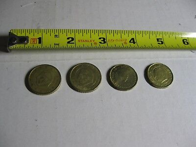 Euro Coins 2 - 50 cent and 2 - 20 cent pieces