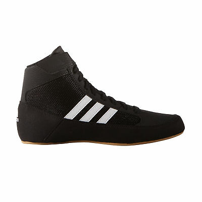 adidas Havoc Kids Junior Wrestling Trainer Shoe Boot Black