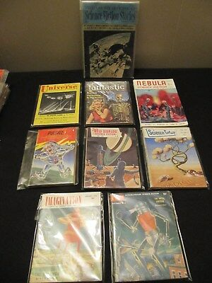 9 VINTAGE 1950s TO 1970s SCIENCE FICTION FANTASY BOOKS VARYING COMPANIES