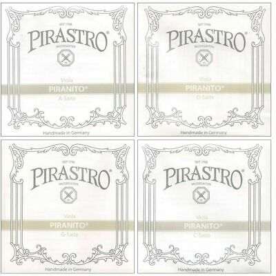 "Pirastro Piranito Viola String Set 3/4 - up to 15"" Made in Germany"